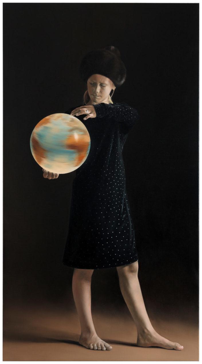 KUNSTHAUS HANNOVER - WOLFGANG KESSLER - Die Prüfung 2019 Öl auf Leinwand 200 x 110 cm signiert, betitelt und datiert